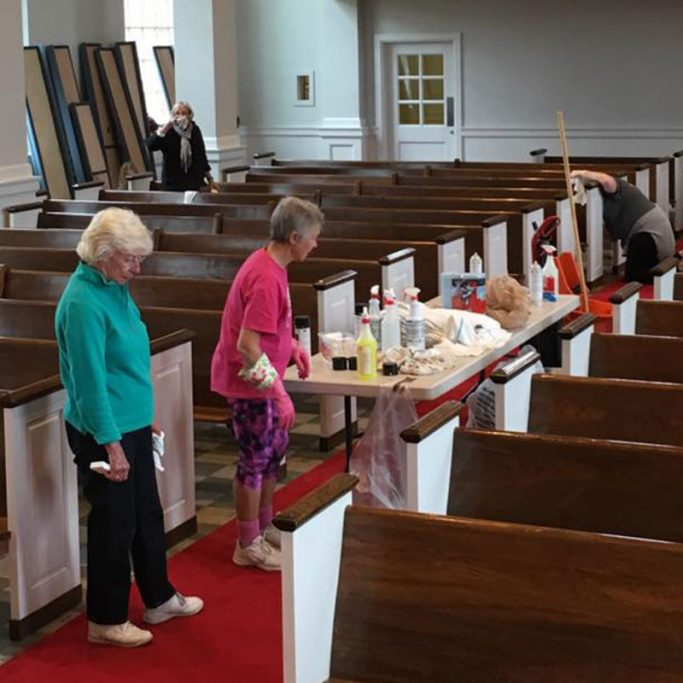 Volunteering at North Shore Congregational Church